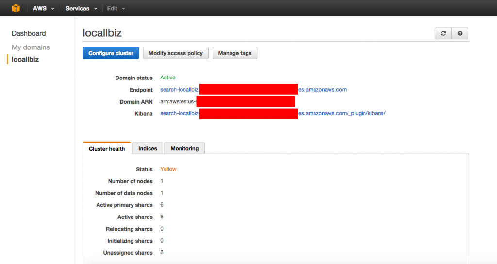 Elasticsearch AWS